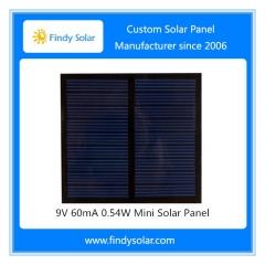 9V 60mA 0.54W Mini Solar Panel