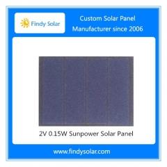 2V 0.15W 75mA Sunpower Solar Panel