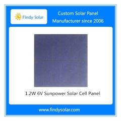 1.2W 6V Sunpower Solar Cell Panel