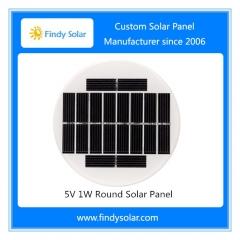 5V 1W Round Solar Panel