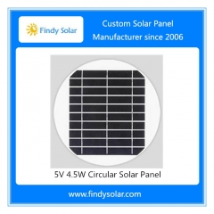 5V 4.5W Circular Solar Panel