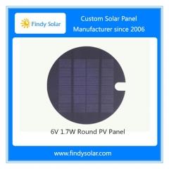 6V 1.7W Round PV Panel