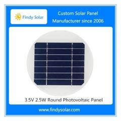 3.5V 2.5W Round Photovoltaic Panel