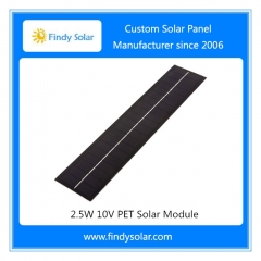 2.5W 10V PET Solar Module