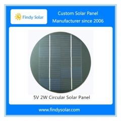5V 2W Circular Solar Panel