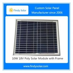 Solar Panel 10W 18V Poly