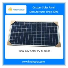 30 watt solar panel 18v