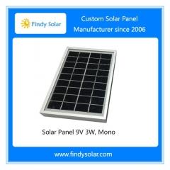 Solar Panel 9V 3W, Mono, with aluminum frame