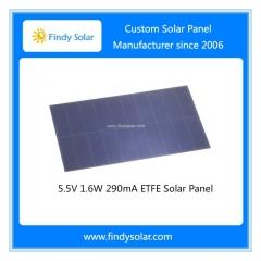 5.5V 1.6W 290mA ETFE Solar Panel, high efficiency Sunpower solar cell