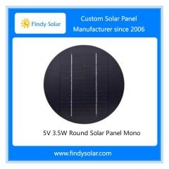 3.5W 5V Round Solar Panel Mono